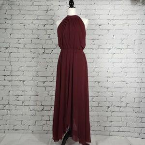 Fuzzi Burgundy Maxi Gown Dress